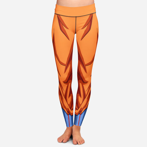 Dragon Ball Z Goku Women Cosplay Orange Leggings Yoga Pants