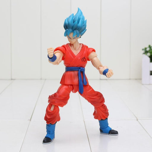 Dragon Ball Z Son Goku Super Saiyan Blue Resurrection F PVC Action Figure 16cm - Saiyan Stuff - 1
