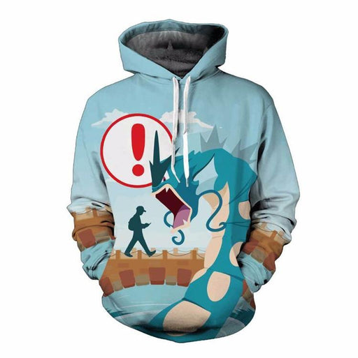 Enjoy Pokemon GO with Caution Funny Humorous 3D Hoodie - Konoha Stuff