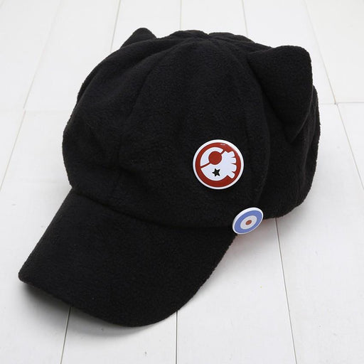 Evangelion EVA Asuka Cat Ears Badges Cosplay Peaked Cap Hat - Konoha Stuff - 1