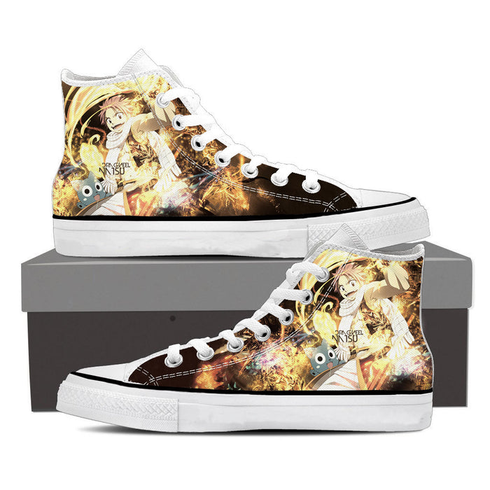 Fairy Tail Cute Natsu Dragneel Happy Flame Aura Yellow Shoes