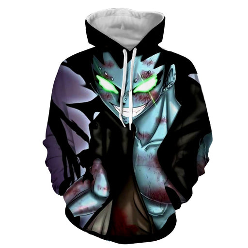 Fairy Tail Gajeel Redfox Dragon Slayer Glowing Eyes Hoodie