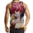Fairy Tail Mocking Natsu Dragneel Battle Scar Brown Tank Top