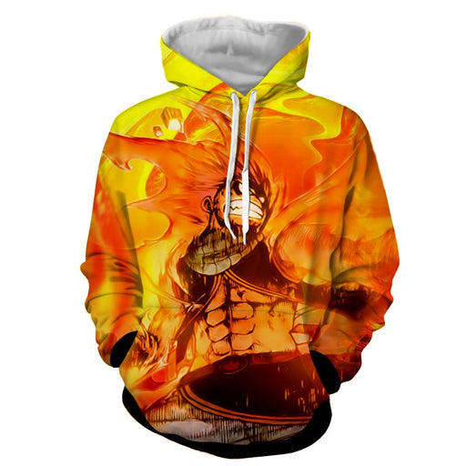 Fairy Tail Natsu Fire Dragon Slayer Phoenix Orange Hoodie