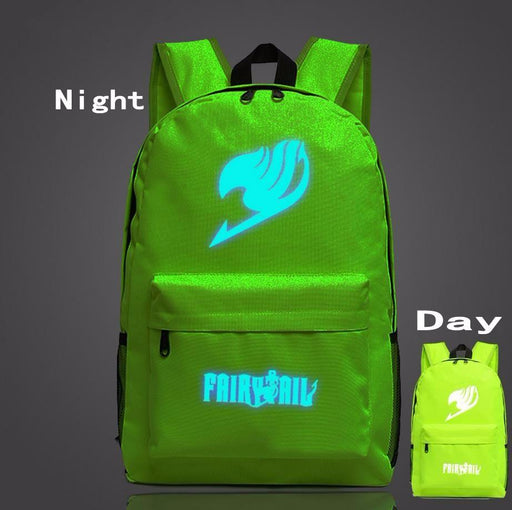 Fairy Tail Symbol Green Forest Glowing Luminous School Trendy Design Backpack - Konoha Stuff
