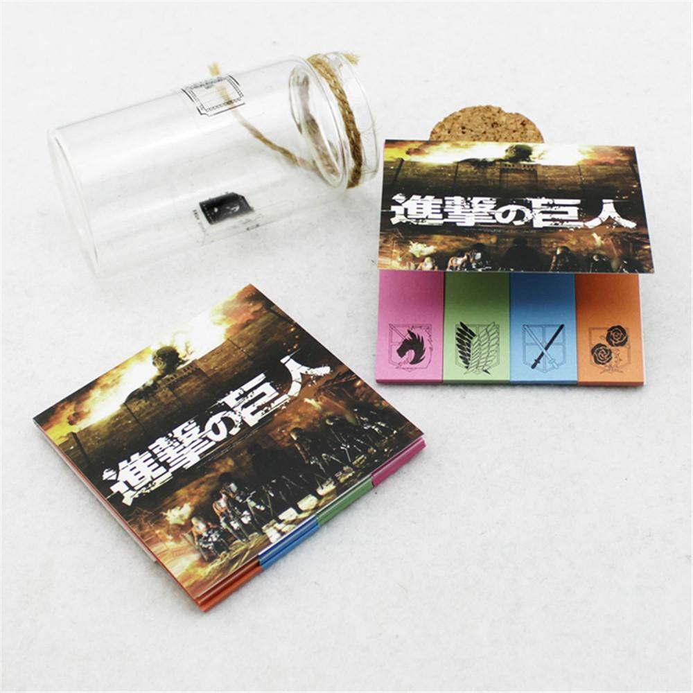 Fantasy Attack On Titan Anime Japan Manga Cool Colorful Sticky Notes - Konoha Stuff