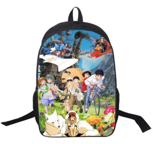 Ghibli Famous Anime Character Vibrant School Bag Backpack