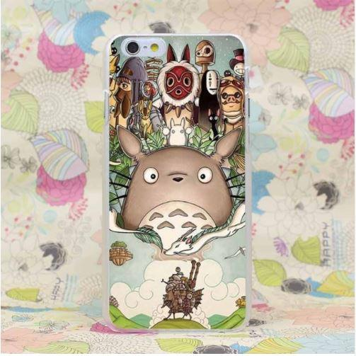 Ghibli Studio Famous Anime Totoro Mononoke Flying Castle iPhone 4 5 6 7 Plus Case