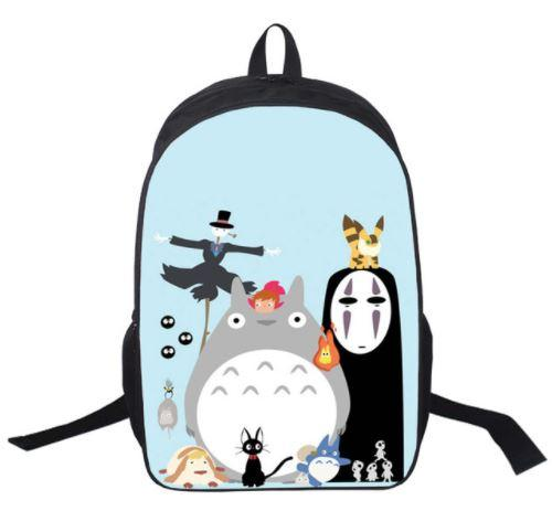 Ghibli Studio Famous Character Emoji Style School Bag Backpack