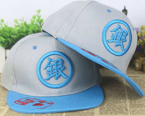 Gintama Anime Embroidery Cool Gray Blue Hip Hop Hat Cap Snapback - Konoha Stuff