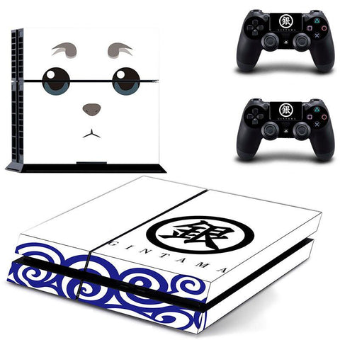 Gintama Sadaharu Pet Yorozuya Mascot White PS4 Console Skin Decal - Konoha Stuff