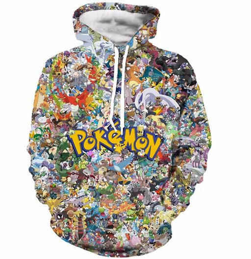 Gotta Catch 'Em All Cute Pokemon Go Anime Characters 3D Hoodie - Konoha Stuff