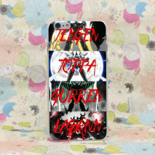 Tengen Toppa Gurren Lagann Robot Fan Arts Awesome iPhone 4 5 6 7 Plus Case