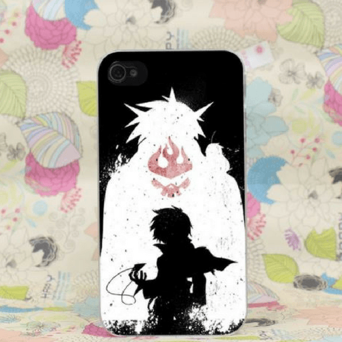 Gurren Lagann Simon Kid Mecha Gunman Fire Symbol iPhone 4 5 6 7 Plus Case