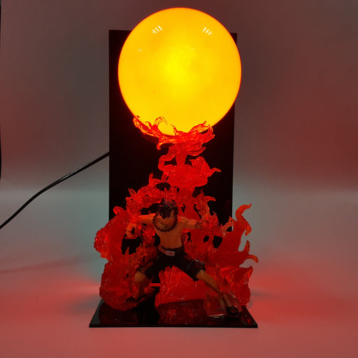 One Piece Portgas D. Ace Enkai Flame Commandment Orange Ball DIY 3D Light Lamp