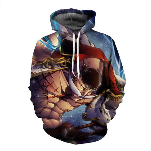 Funny One Piece White Beard Amazing Anime 3D Design Hoodie - Konoha Stuff