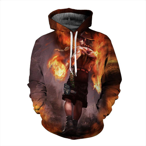 Funny One Piece Amazing Mysterious D. Ace Cool Dope 3D Hoodie - Konoha Stuff