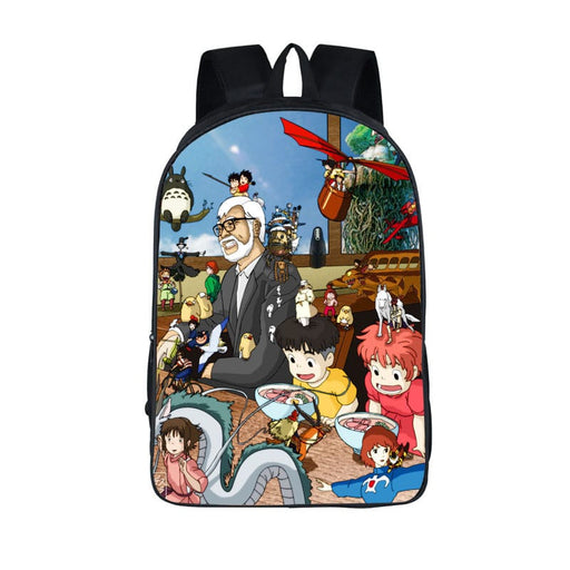 Hayao Miyazaki Movie Compilation Cool Fan Art Backpack