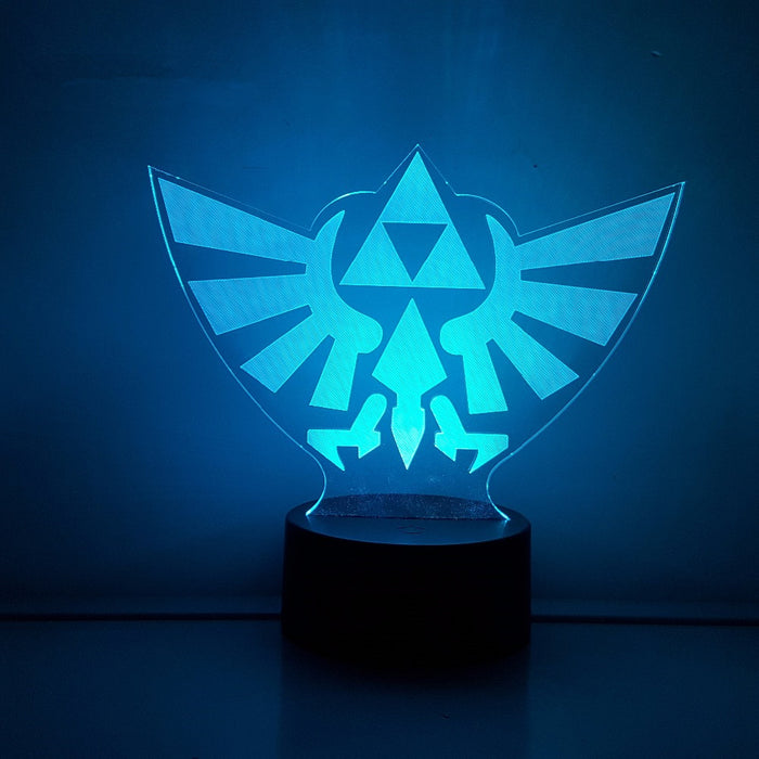 The Legend of Zelda Triforce Symbol Color Changing 3D Illusion Acrylic Lamp