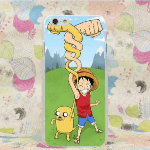 Jake and Luffy Hand In Hand Funny Printing iPhone 4 5 6 7 Plus Case