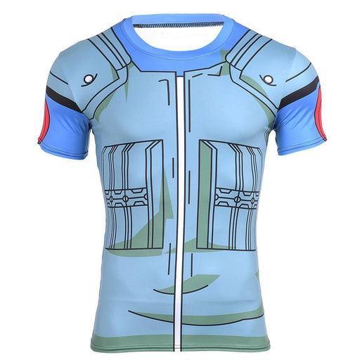 Kakashi Hatake Konoha Green Flak Costume 3D Workout T-Shirt