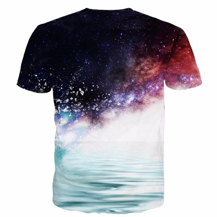 Kakashi Hatake in the Water Galaxy Space Naruto Unique Stylish 3D T-Shirt - Konoha Stuff