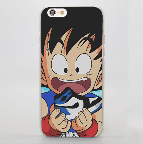 Kid Goku Eat Yummy Cake Dragon Ball Cute iPhone 5 6 7 Plus Case