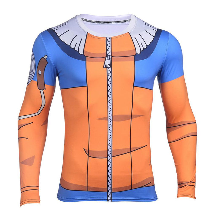 Kid Naruto Uzumaki Clan Symbol Jacket Long Sleeves 3D Compression Shirt