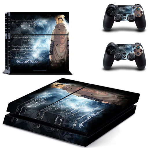 Minato Namikaze Shinobi Back Naruto Writing Awesome PS4 HD Skin Decal - Konoha Stuff