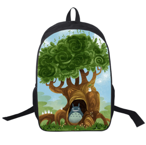 My Neighbor Totoro Art Work Cute Design School Bag Backpack