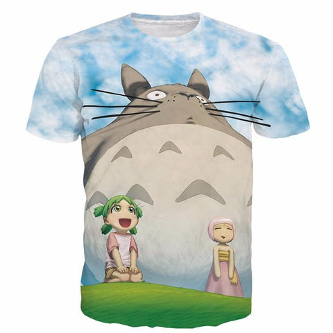 My Neighbor Totoro Characters Cute Japanese Anime 3D T-Shirt - Konoha Stuff