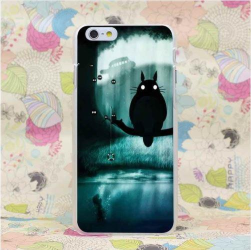My Neighbor Totoro Fishing Catbus Dark Vibe Design iPhone 4 5 6 7 Plus Case