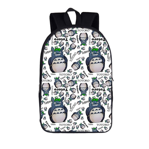 My Neighbor Totoro Optimistic Smile Pattern White Backpack