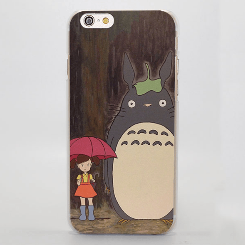 My Neighbor Totoro Raining Scene iPhone 4 5 6 7 Plus Case