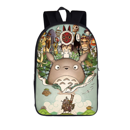 My Neighbor Totoro Spirited Away Cast Art Backpack