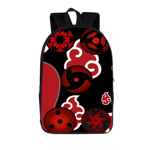 Naruto Akatsuki Symbols Sharingan Mirror Wheel Eye Backpack