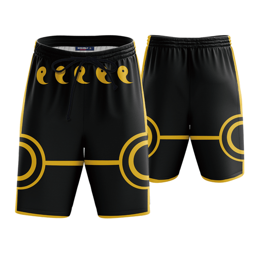 Naruto Anime Black 3D Cosplay Boardshorts Swim Trunks
