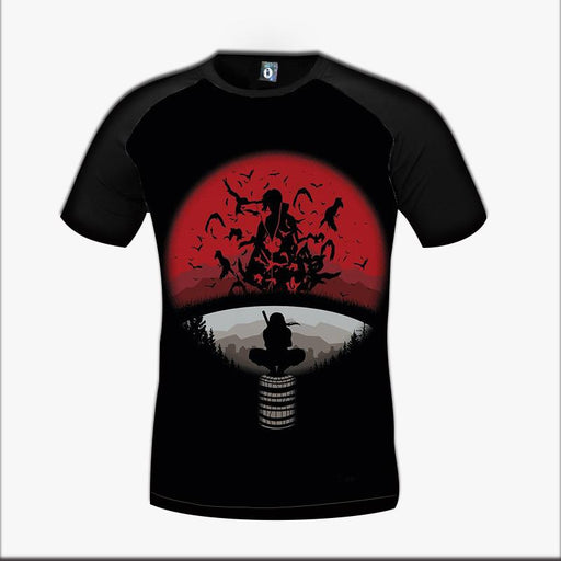 Naruto Anime Itachi Uchiha Genius Ninja Clan Symbol Awesome Design T-Shirt