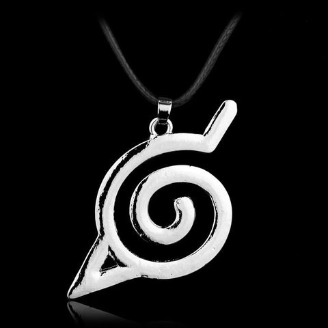 Naruto Leaf Village Symbol Konohagakure Alloy Pendant Necklace