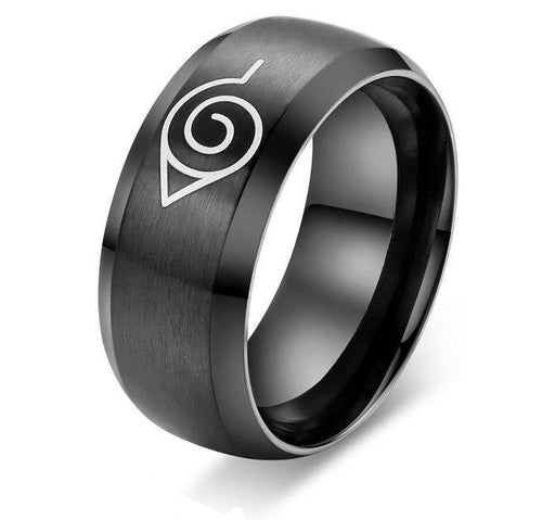 Naruto Leaf Village Symbol Konohagakure Stainless Steel Ring - Konoha Stuff