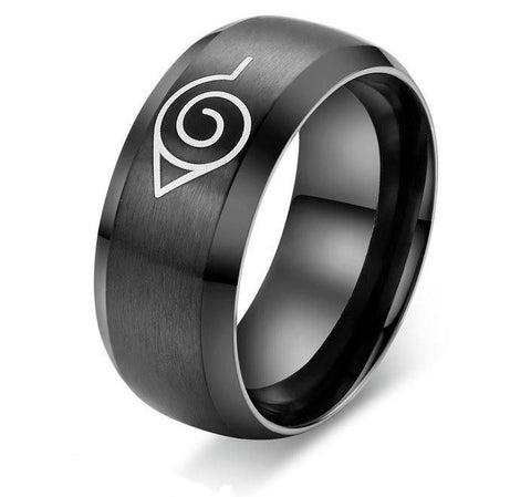Naruto Leaf Village Symbol Konohagakure Stainless Steel Ring - Konoha Stuff - 1