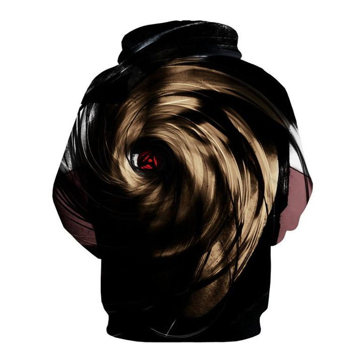 Naruto Madara Obito Mask Sharingan Darkness Power Design Hoodie - Konoha Stuff - 2
