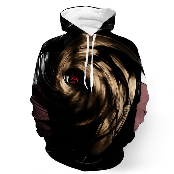 Naruto Madara Obito Mask Sharingan Darkness Power Design Hoodie - Konoha Stuff - 1