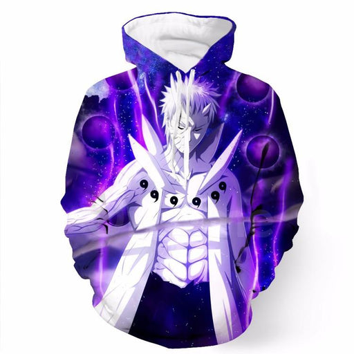 Naruto Obito Uchiha Sage of Six Paths Senjutsu Art Anime Hoodie - Konoha Stuff