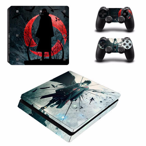 Naruto Shippuden Anime Dark Akatsuki Crow PS4 Console Skin Decal