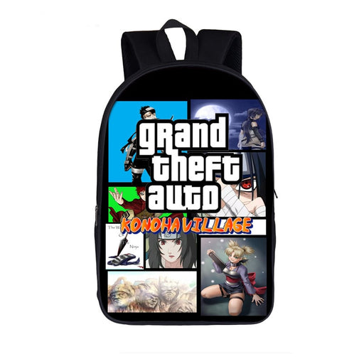 Naruto Shippuden Konoha Village Grand Theft Auto Backpack