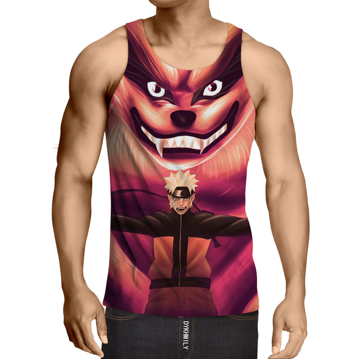 Naruto Shippuden Kyuubi Fox Monster Ninja Theme Cool Design Tank Top