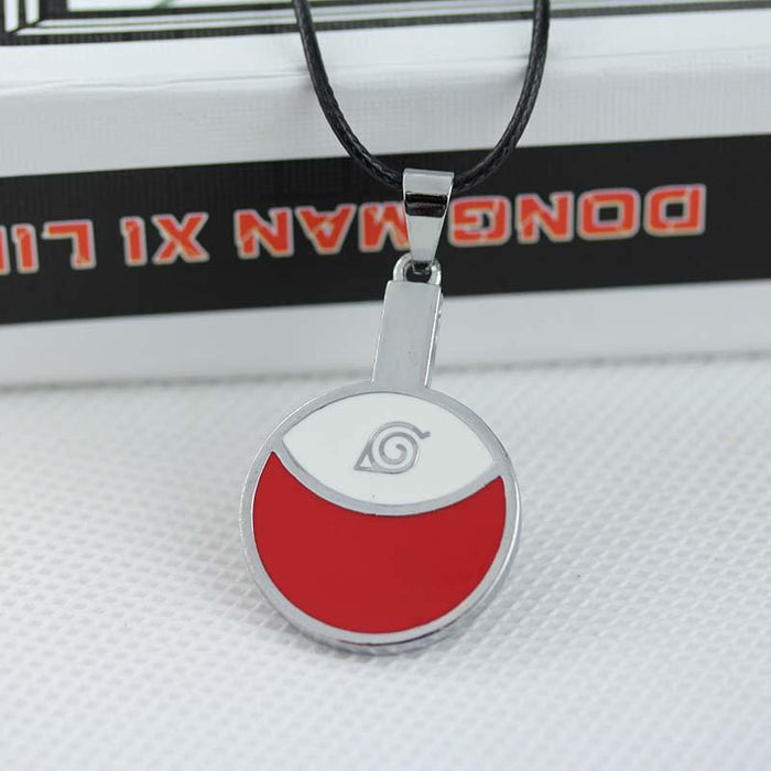 Naruto Uchiha Clan Of Fire Release Symbol Leaf Pendant Cool Necklace - Konoha Stuff