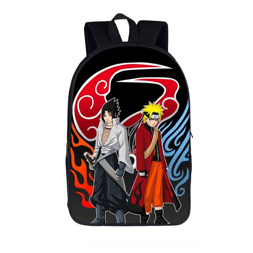 Naruto Uzumaki And Sasuke Powerful Look Stylish Backpack
