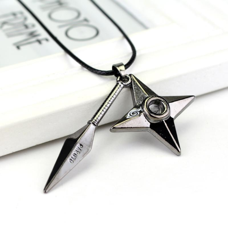 Naruto Uzumaki Kunai Shuriken Knife Dart Star Pendant Unique Necklace - Konoha Stuff